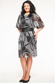 Платье Swallow 072-2 черно-белый