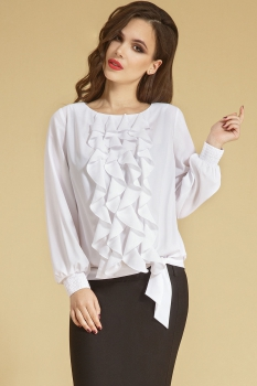 Блузка Teffi Style 1207 белые тона