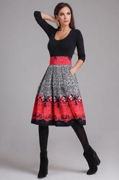 Юбка Teffi Style 1289-1 малиновый