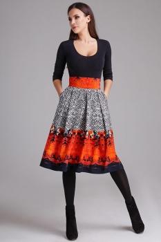 Юбка Teffi Style 1289 с оранжевым