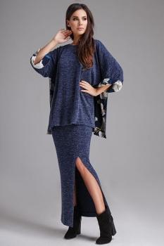 Юбка Teffi Style 1295 оттенки синего