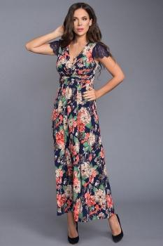 Платье Teffi Style 1317 индиго