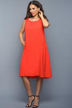 Платье Teffi Style 1328-3 коралл