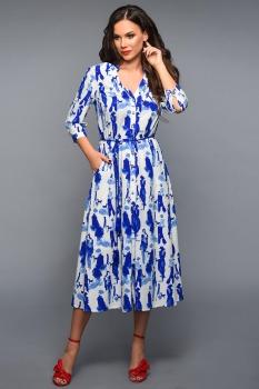 Платье Teffi Style 1331 с синим