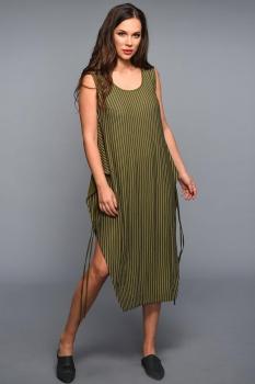 Платье Teffi Style 1335 хаки