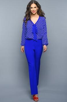 Блузка Teffi Style 1350 горохи мажорель