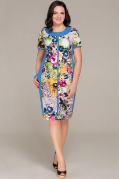 Платье Теллура-Л 1241 цветы