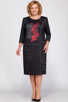 Платье Теллура-Л 1360а графит