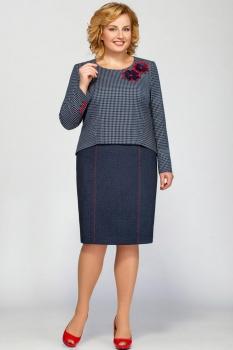Платье Теллура-Л 1380 серые тона