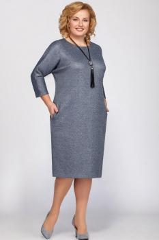 Платье Теллура-Л 1382 серые тона