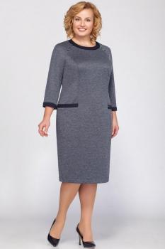 Платье Теллура-Л 1383 серые тона