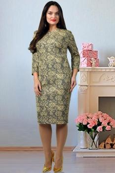 Платье Тэнси 228 с желтым