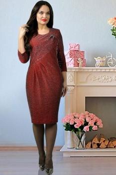 Платье Тэнси 230 бордовый оттенок