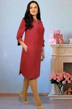 Платье Тэнси 234 бордовый оттенок