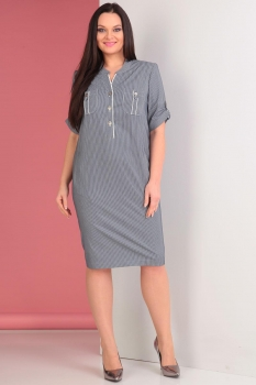 Платье Тэнси 237 серо-синий оттенок