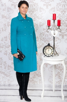 Пальто Tricotex Style 1116 бирюзовые тона