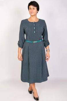 Платье Tricotex Style 1716-3 бирюзовые горохи