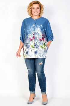 Жакет Tricotex Style 1760 оттенки синего