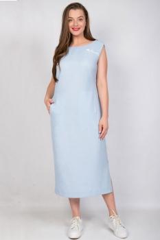 Платье Tricotex Style 1815 светло-голубой