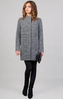 Пальто Tricotex Style 3016М оттенки серого