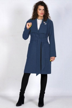 Пальто Tricotex Style 9417-1 джинс
