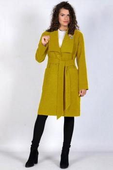 Пальто Tricotex Style 9417-2 горчица