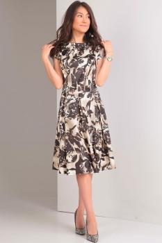 Платье Tvin 7028 бежево-коричневый