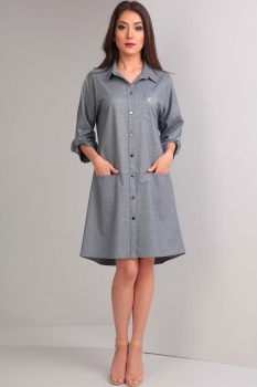 Платье Tvin 7371/2 оттенки серого