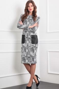 Платье Tvin 7374 оттенки серого