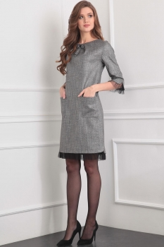 Платье Tvin 7390 оттенки серого