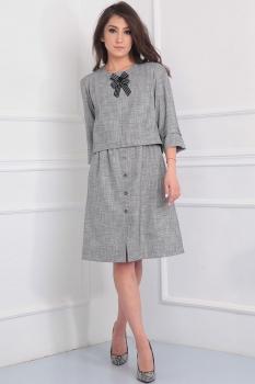 Платье Tvin 7394 оттенки серого