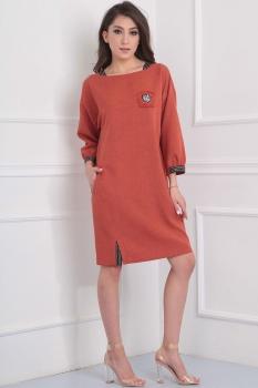 Платье Tvin 7396 терракот