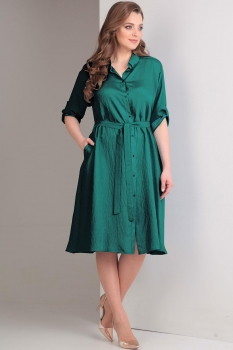 Платье Tvin 7407-2 оттенки зелёного