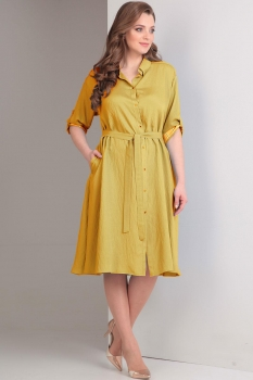 Платье Tvin 7407 оттенки жёлтого