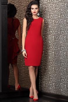 Платье Твой Имидж 4121 красный