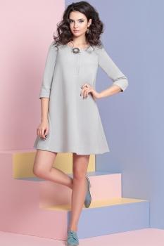 Платье Твой Имидж 8002-1 серо-голубой