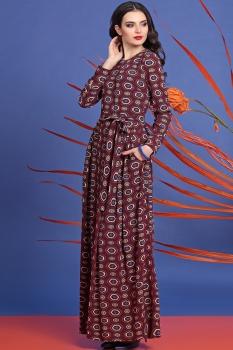 Платье Твой Имидж 8043 бордо