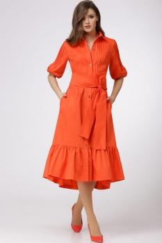 Платье Verita 1067 оранжевый