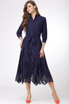 Платье Verita 1071 тёмно-синий