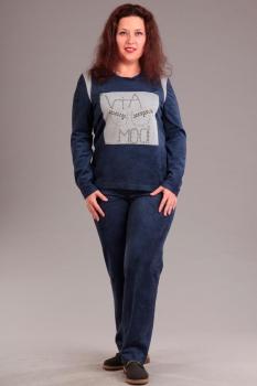 Спортивный костюм Via-Mod 319-2 синий