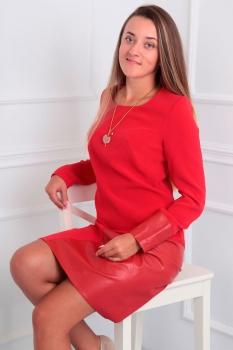 Платье Via-Mod 346-2 красный