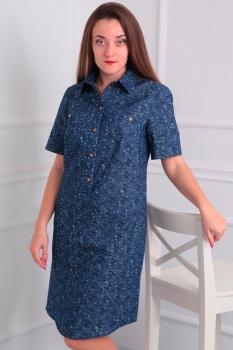 Платье Via-Mod 353-8 синий
