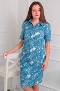 Платье Via-Mod 353-9 светло-синий