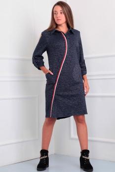 Платье Via-Mod 369-1 серый