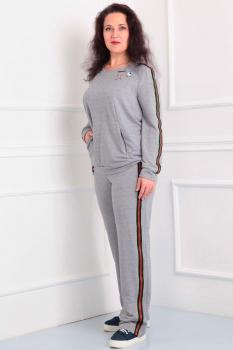 Спортивный костюм Via-Mod 372 серый+зеленый