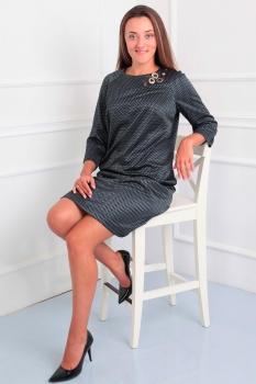 Платье Via-Mod 375 темные-тона