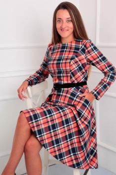 Платье Via-Mod 376 клетка