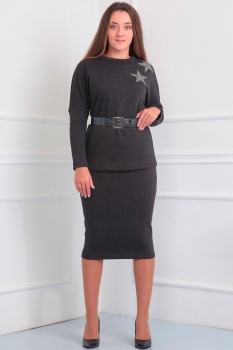 Платье Via-Mod 379 темные-тона
