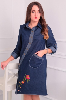 Платье Via-Mod 390 синий