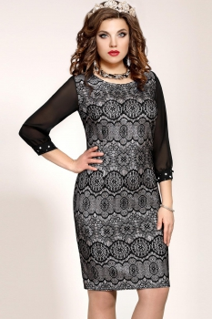Платье Vittoria Queen 2553/2 Серый/Черный